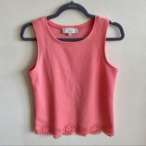 LOFT Pink Sleeveless Blouse XS